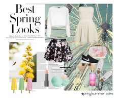 """""""Spring/ summer looks"""" by laura14x ❤ liked on Polyvore featuring мода, ASOS, H&M, Topshop, Oasis, NIKE, Converse, Linda Farrow, Easy Spirit и Eos"""