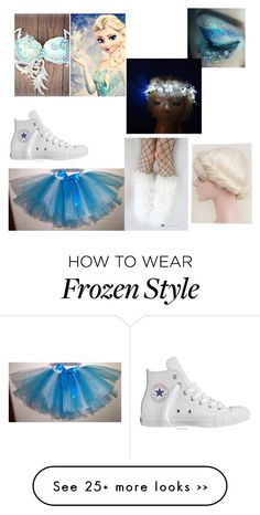 """Queen Elsa rave"" by musicislove013113 on Polyvore featuring Converse and Disney"