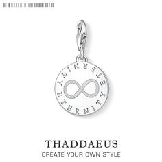 0f0484dc9147 Thomas DIY Style Eternity Charm Pendant TMS Glam 925 Sterling Silver Good  Jewelry Fit Necklace Bracelet