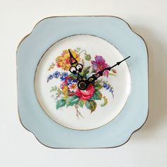 Baby Blue and White Bone China Plate Kitchen by LaviniasTeaParty