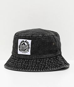 """Stay on trend this season with Milkcrate's Black Washed Denim Bucket Hat. Coming in a faded denim washed design, this accessory offers a touch of vintage-like styling and comes marked with the brand's signature """"Milkcrate Athletics"""" logo patch on the fron Outfits With Hats, Trendy Outfits, Tomboy Outfits, Virtual Fashion, Urban Fashion, Athletics Logo, Black Bucket Hat, Denim Hat, Japan Outfit"""