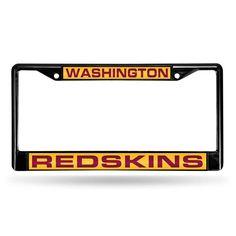 Washington Redskins NFL Laser Cut Black License Plate Frame