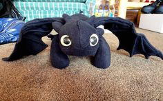 "Toothless plushie from ""How to Train Your Dragon"" I made for my daughter last Christmas."