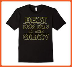 Mens BEST DOG DAD IN THE GALAXY FUN BIRTHDAY FATHER'S DAY T-SHIRT Medium Black - Birthday shirts (*Partner-Link)