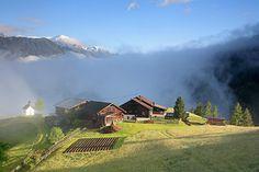Schöne Morgenstimmung in Längenfeld im Ötztal/Tirol