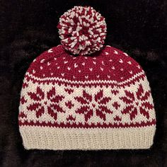 Nordic Hat pattern by Mònica Cifuentes - Knitting patterns, knitting designs, knitting for beginners. Fair Isle Knitting Patterns, Knitting Designs, Knitting Projects, Crochet Projects, Crochet Patterns, Knitted Hats, Crochet Hats, Beanie Pattern, Christmas Knitting