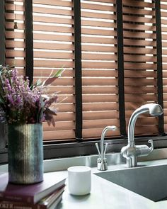 majestic wooden blinds for bathrooms. 2  Durawood Blinds in Chestnut 15570 this kitchen wood blinds smithandnoble English Oak Obsidian Wooden Blind with Tapes 50mm Slat