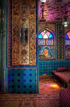 Persian Tea House, Isfahan, Iran de Kamal al Mulk Cultural Architecture, Persian Architecture, Art And Architecture, Mosque Architecture, Iran Travel, Persian Culture, Iranian Art, Arabesque, Islamic Art