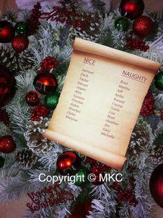 Santa's Nice & Naughty list that I made for my Santa wreath.