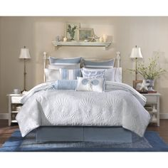 Harbor House Crystal Beach Comforter Set - King-White (As Is Item) (King-White) Beach House Furniture, Beach House Bedroom, Beach House Decor, Home Bedroom, Bedroom Decor, Home Decor, Beach Houses, Summer Bedroom, Bedroom Ideas