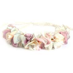 eliurpi Floral petal crown headband found on Polyvore