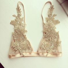 with love lilly champagne bralette