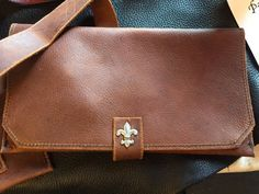 Lined Leather pipe pouch with lighter and tool pocket by andrewjl