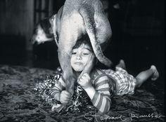 Kid + Dog = love. Photo by Stephanie Rausser