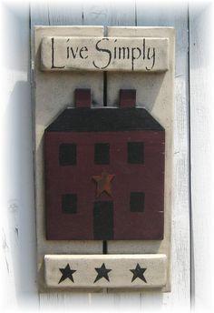 Primitive saltbox house sign