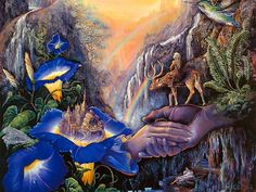 Artwork by Josephine Wall published on fb