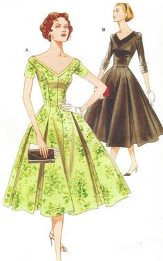 Vogue Sewing Pattern V2903 Womens 1950s Princess by CloesCloset
