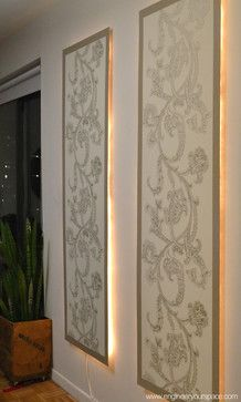 DIY Floating Lighted Wall Panels - contemporary - dining room - new york - Engineer Your Space