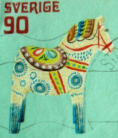 Scandia | Sverige/Sweden Dala horse stamp