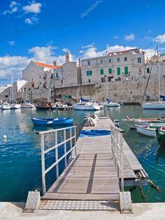 Vista del paesaggio di giovinazzo. Puglia