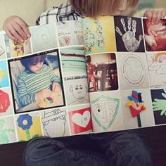 Como guardar e expor os desenhos das crianças - livro de desenhos do ano