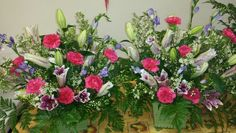Lily and carnations arrangement