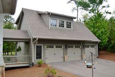 garage plans with living quarters | Detached 3 Car Garage Cabin & Lodge Garage - #ALP-096Z
