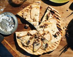 Find the recipe for Grilled Pizza with Pears, Fresh Pecorino, and Walnuts  and other walnut recipes at Epicurious.com