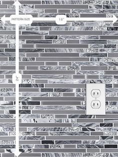 grey backsplash Gray Marble Glass Kitchen Backsplash Tile