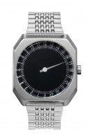 slow watch. All Silver Steel, Black Dial