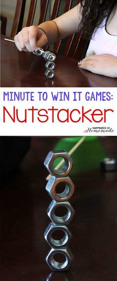 10 Awesome Minute to Win It Party Games - Happiness is Homemade: More