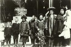 Ellis Island family-- probably this is similar to what my husband's mother and her family looked like when they entered Ellis Island from Holland...ms