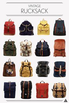 gotta love vintage rucksacks.