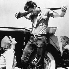 "James Dean & Elizabeth Taylor in ""Giant"""
