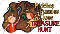 This kids hunt includes 19 treasure hunt clues. It includes complete instructions on how to set up this awesome treasure hunt. Clues include puzzles, riddles, and MORE! Kids Party Games, Games For Kids, Treasure Hunt Riddles, Scavenger Hunt Birthday, Scavenger Hunts, An Affair To Remember, Pirate Day, Activities For Kids, Educational Activities
