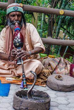 Snake charmers were found in India even as late as 1985 , . maybe still today? Snake charmer in Rishikesh, India Dojo, Backpacking India, Asia, Haridwar, Indian Folk Art, India People, Varanasi, Arabian Nights, Rishikesh India