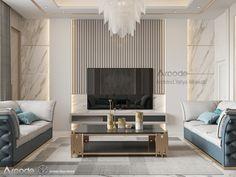 Tv Lounge Design, Tv Wall Design, Modern Tv Room, Neoclassical Interior, Living Room Tv Unit Designs, Luxury Dining Room, Susa, Office Interior Design, Decoration