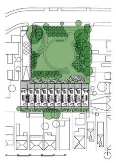 Site plan for Heller Street Park and Residences by Six Degrees Architects.