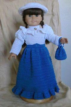 121 Victorian Set Crochet Pattern for American Girl von barbsdolls