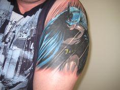 My tattoo of Batman. My son loves him so....#tattoo