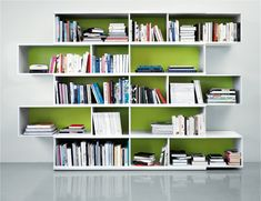 Move book shelf – ID Design Interieurs - Living room - Shelves, chests Bookshelf Design, Bookshelves, Id Design, House Design, Living Room Shelves, Book Storage, I Cool, Storage Solutions, New Homes