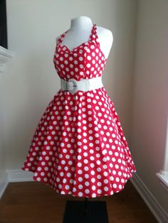 Hell bunny red polka dot dress