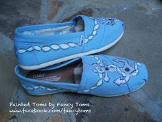 Handpainted Custom Toms Shoes  Anchors by FancyToms on Etsy, $85.00