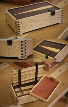 Woodworking Projects Lidded Keepsake Box with Exotic Woods - Woodworking Project Picture Photo Gallery with Furniture, Cabinetry, Musical Instruments, and Woodworking Box, Woodworking Workshop, Woodworking Techniques, Woodworking Furniture, Woodworking Projects, Japanese Woodworking, Youtube Woodworking, Intarsia Woodworking, Woodworking Machinery