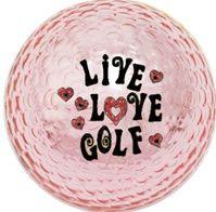 Pink METALLIC golf ball