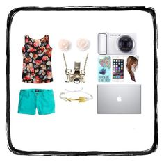 Vacation!!! by stray-arrow on Polyvore featuring polyvore, fashion, style, American Eagle Outfitters, Kiel Mead Studio, Pura Vida, Disney, Samsung and clothing