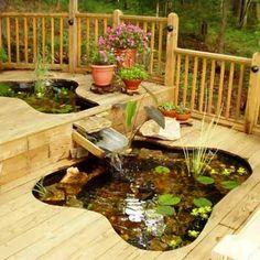 Creative garden ponds, fountains home