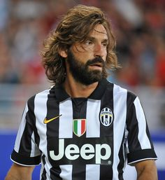 Andrea Pirlo of Juventus... just look at that beard.... how sexy is this midfield maestro
