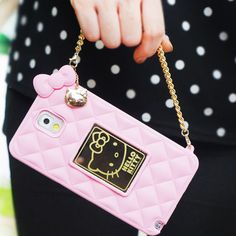 Authentic Hello Kitty Mirror Bag Silicon Case iPhone 6/6S Case 4 Colors Case #HelloKitty
