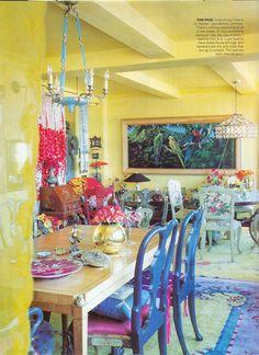 Betsey Johnson's old house.  I love this: the color, the details.  Wonderful taste, wonderfully curated. @Colleen Savard